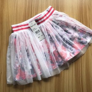 SOLD|Splendid Girls Tutu Skorts Skirt White Pink 5